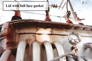 Figure 3: Lid with full face gasket. NOTE: Gap between flanges